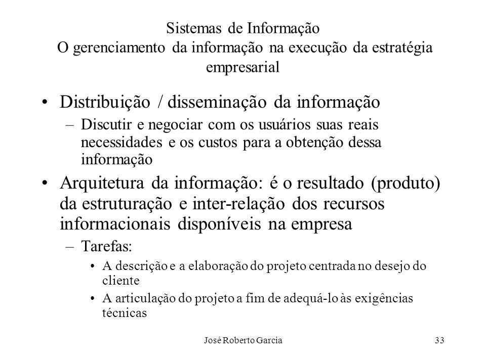 Distribuição / disseminação da informação