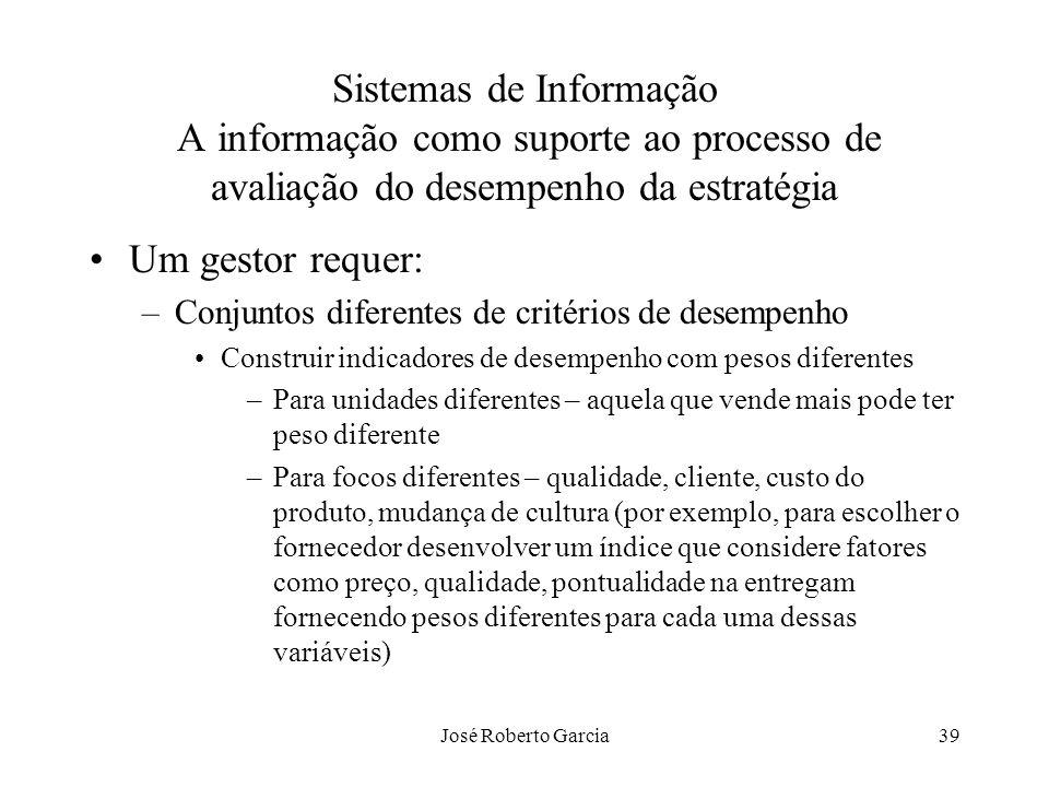 Sistemas de Informação A informação como suporte ao processo de avaliação do desempenho da estratégia