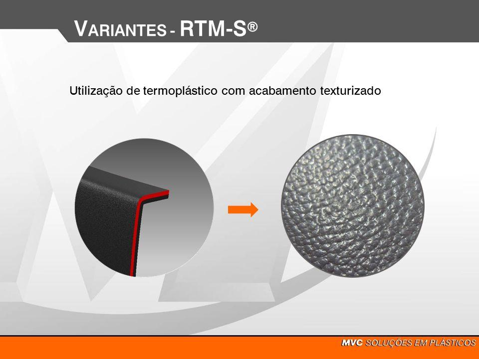 Utilização de termoplástico com acabamento texturizado