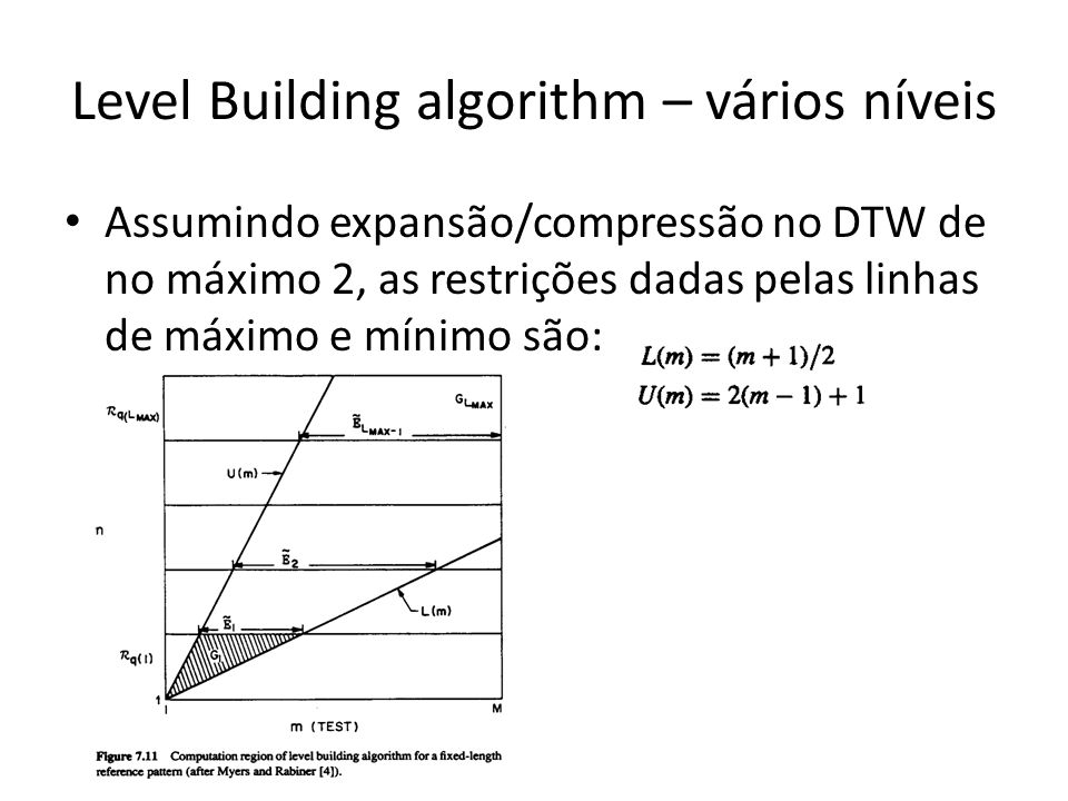 Level Building algorithm – vários níveis