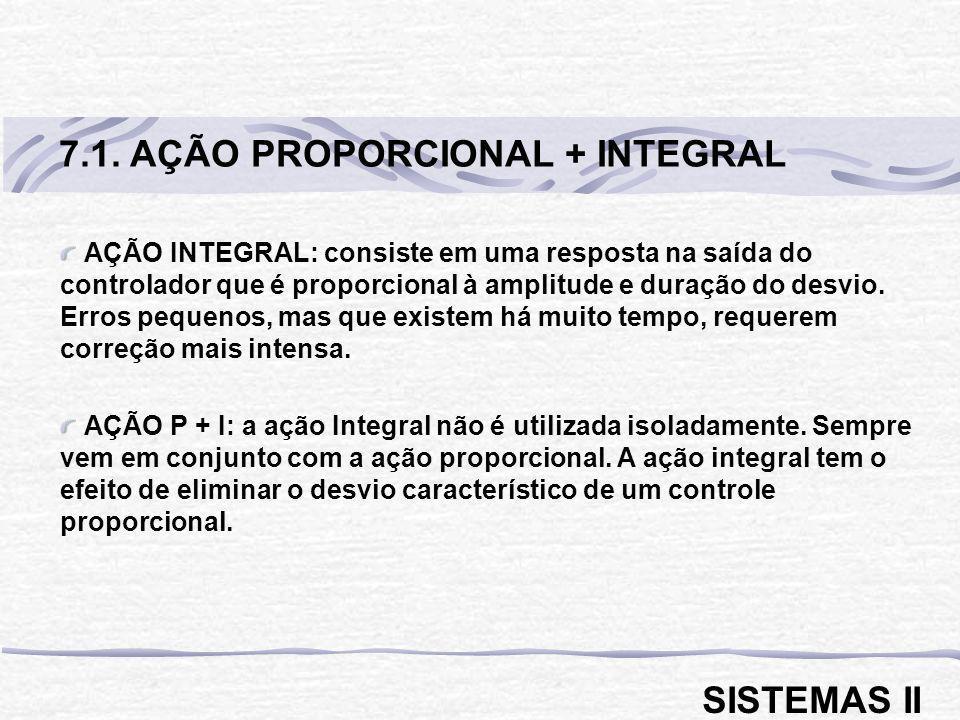 7.1. AÇÃO PROPORCIONAL + INTEGRAL