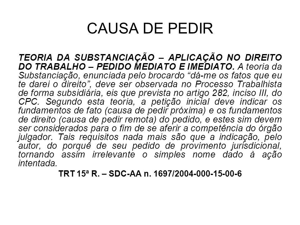 CAUSA DE PEDIR