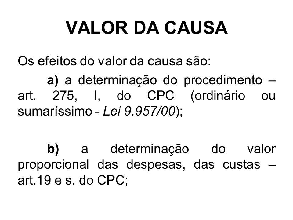 VALOR DA CAUSA