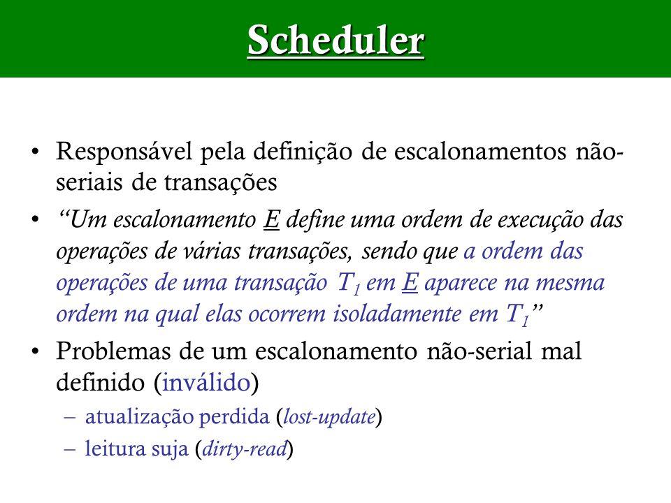 SchedulerResponsável pela definição de escalonamentos não-seriais de transações.
