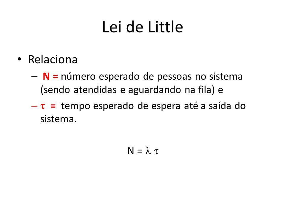 Lei de Little Relaciona