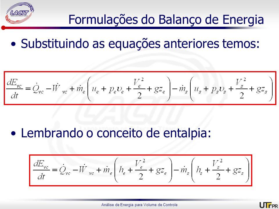 Formulações do Balanço de Energia
