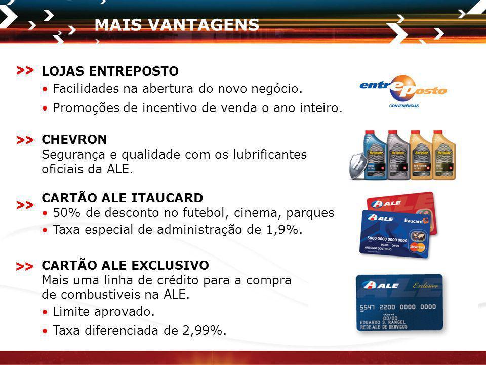 MAIS VANTAGENS >> >> >> >> LOJAS ENTREPOSTO