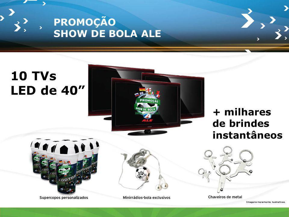 10 TVs LED de 40 PROMOÇÃO SHOW DE BOLA ALE + milhares de brindes