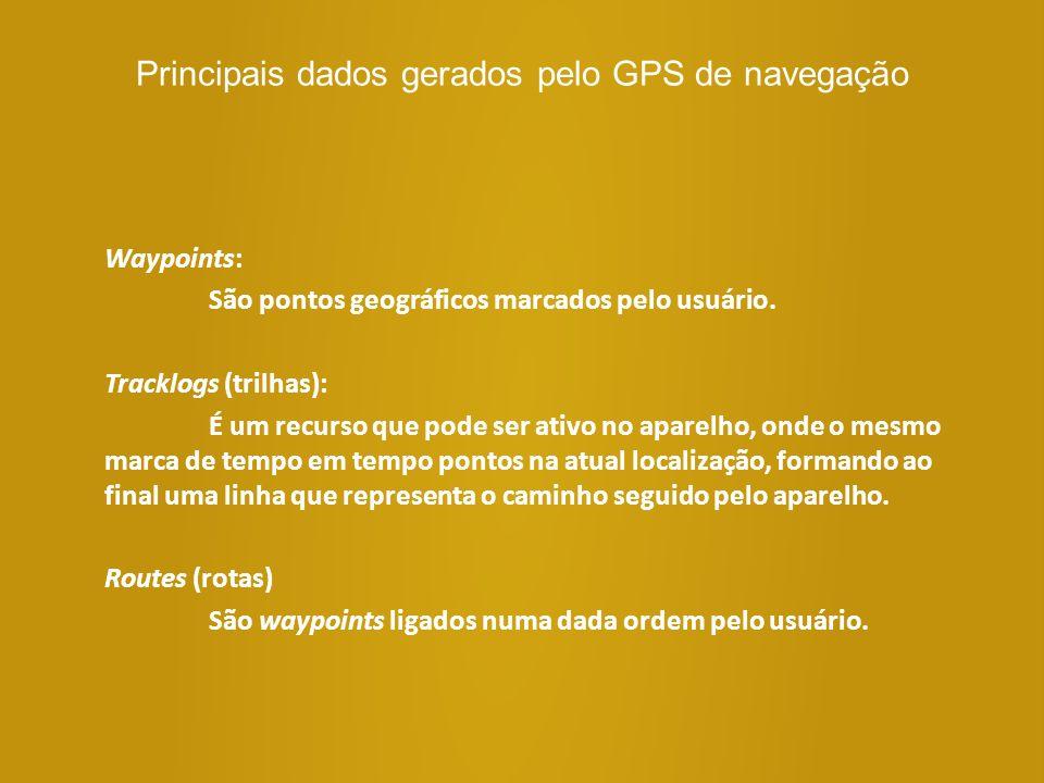 Principais dados gerados pelo GPS de navegação
