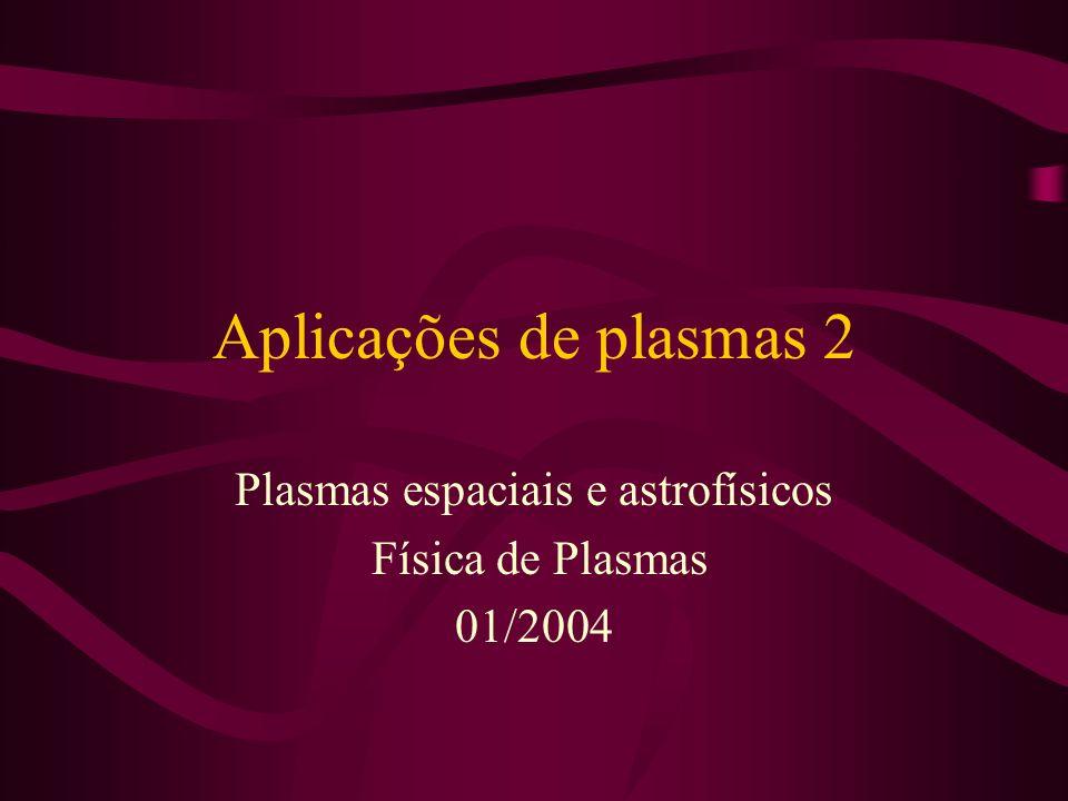 Plasmas espaciais e astrofísicos Física de Plasmas 01/2004