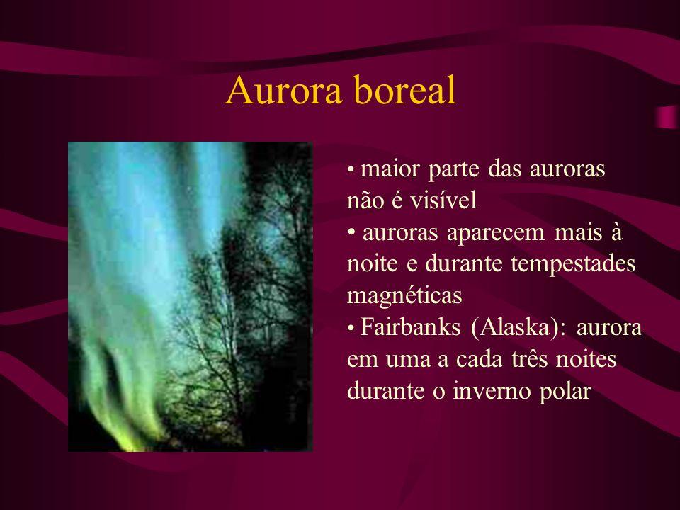 Aurora boreal auroras aparecem mais à noite e durante tempestades