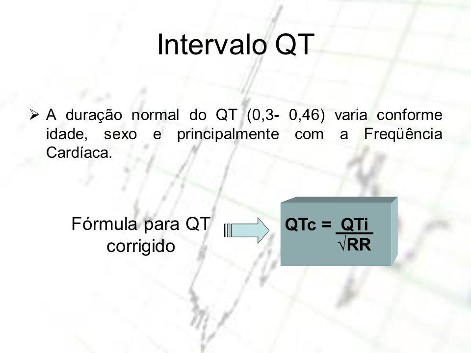 Fórmula para QT corrigido