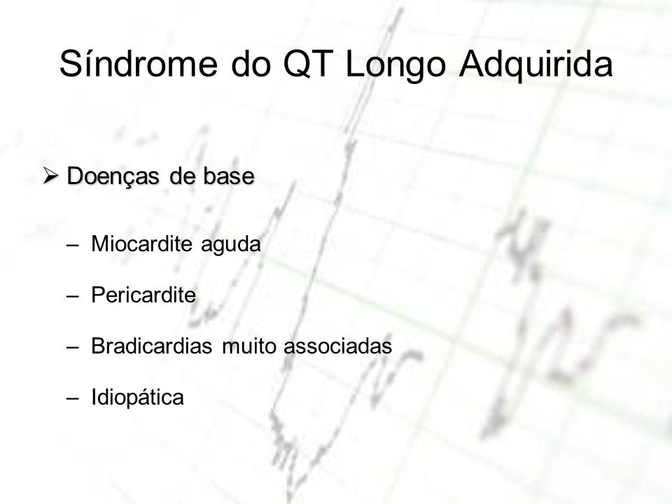 Síndrome do QT Longo Adquirida