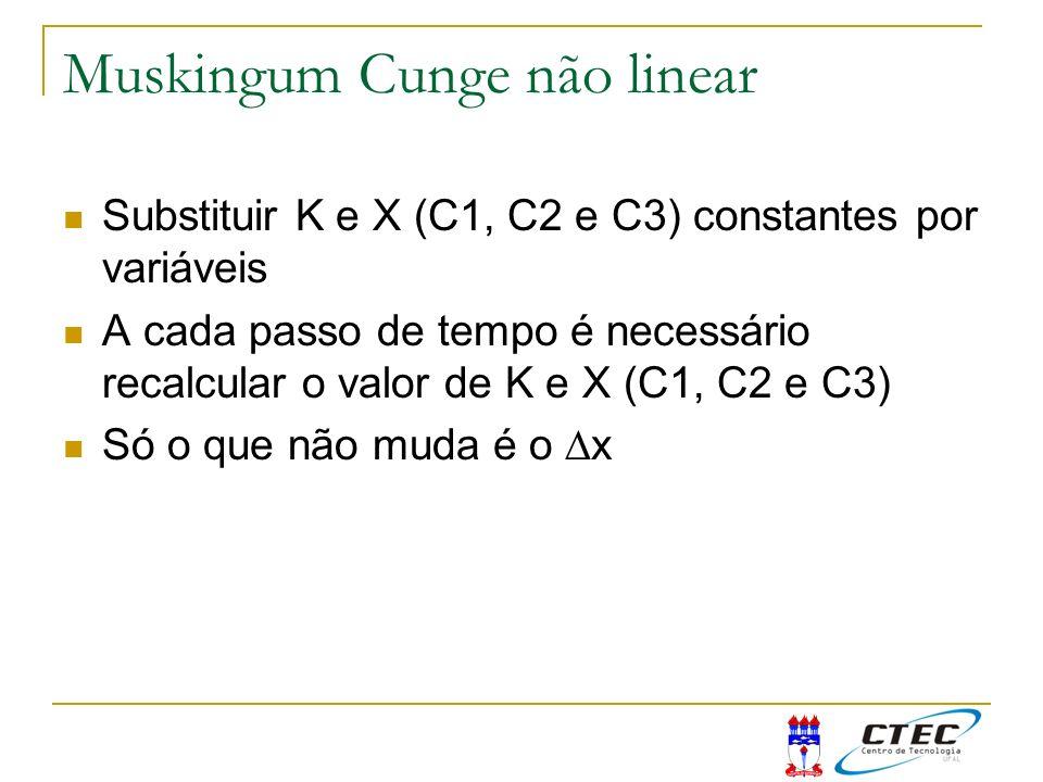 Muskingum Cunge não linear