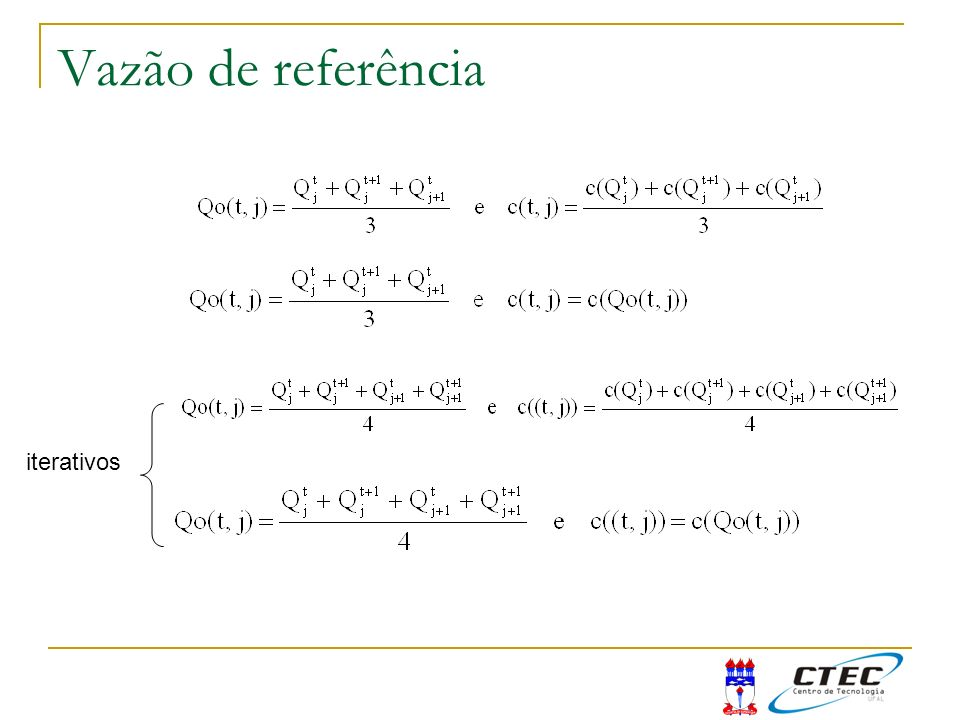 Vazão de referência iterativos