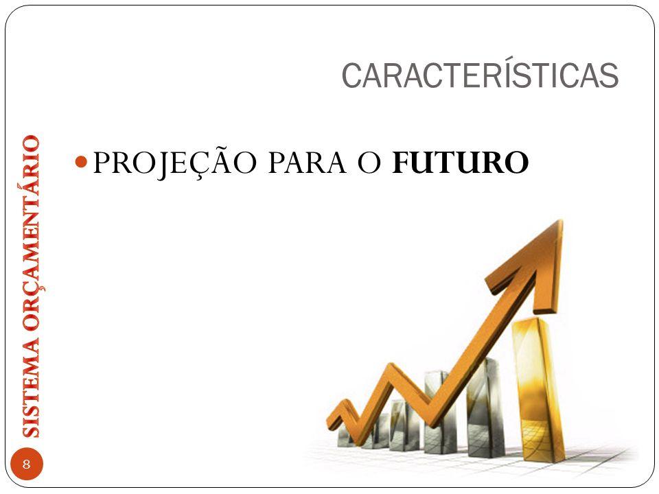 CARACTERÍSTICAS PROJEÇÃO PARA O FUTURO SISTEMA ORÇAMENTÁRIO
