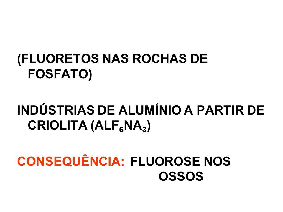 (FLUORETOS NAS ROCHAS DE FOSFATO)
