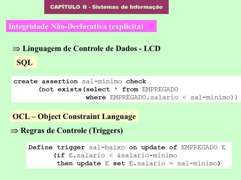 CAPÍTULO II - Sistemas de Informação