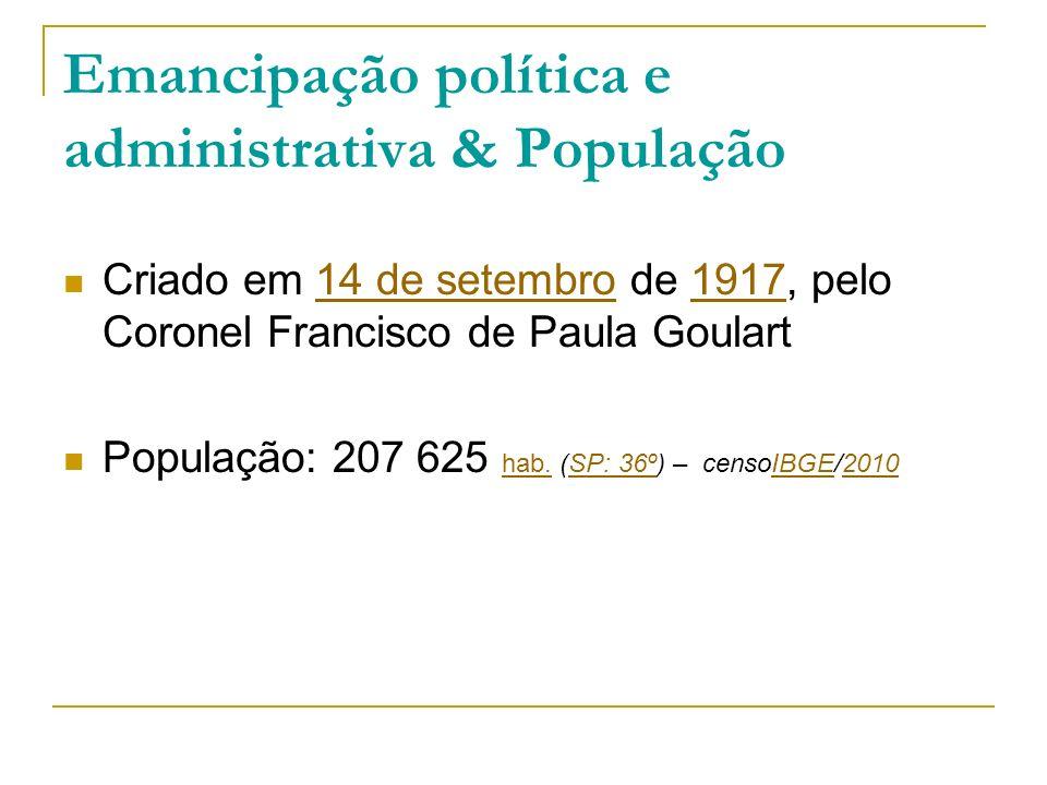 Emancipação política e administrativa & População
