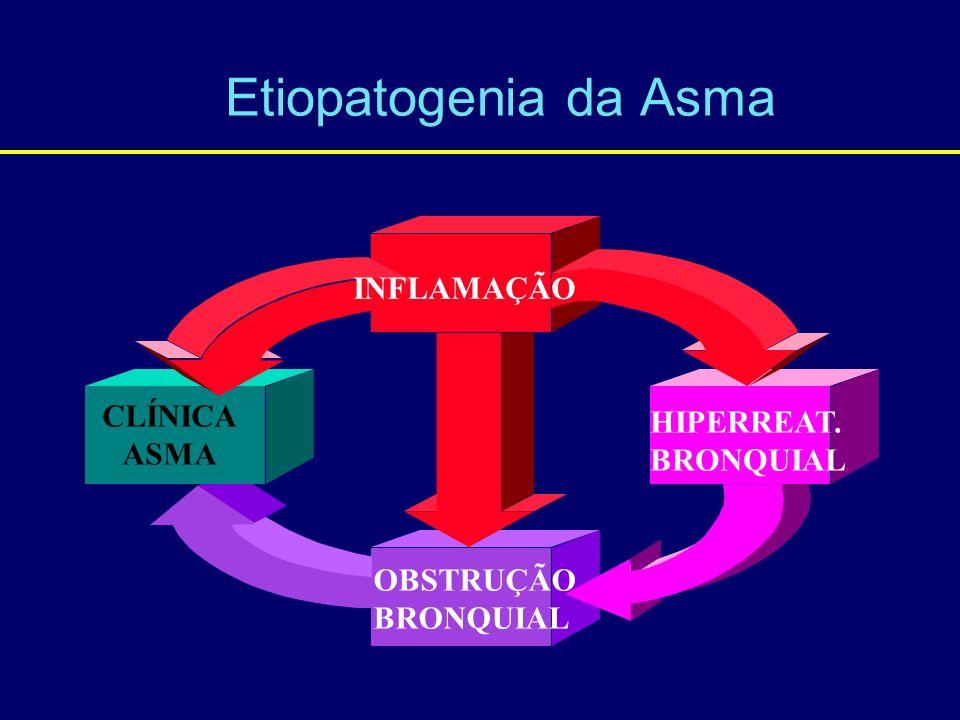 Etiopatogenia da Asma INFLAMAÇÃO CLÍNICA HIPERREAT. ASMA BRONQUIAL