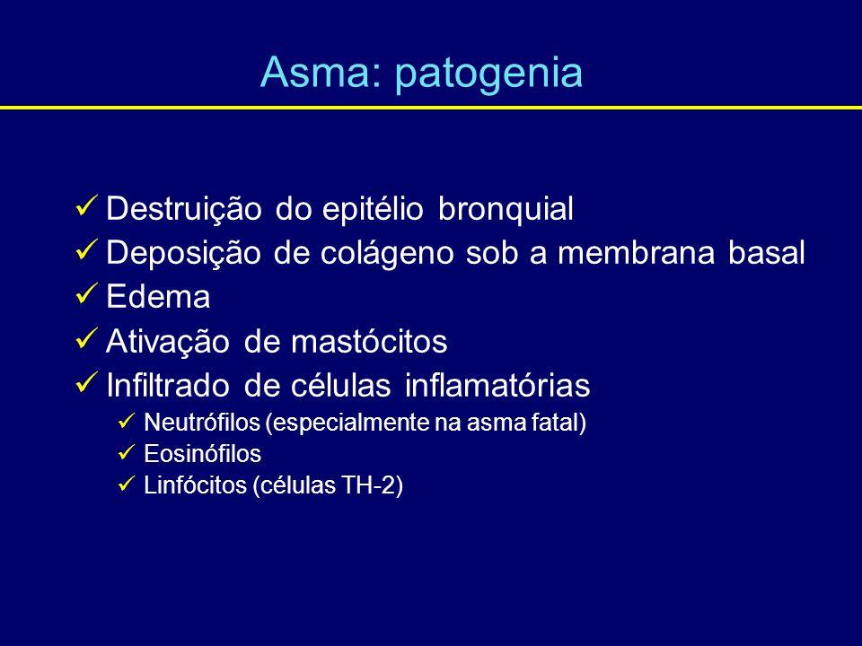 Asma: patogenia Destruição do epitélio bronquial