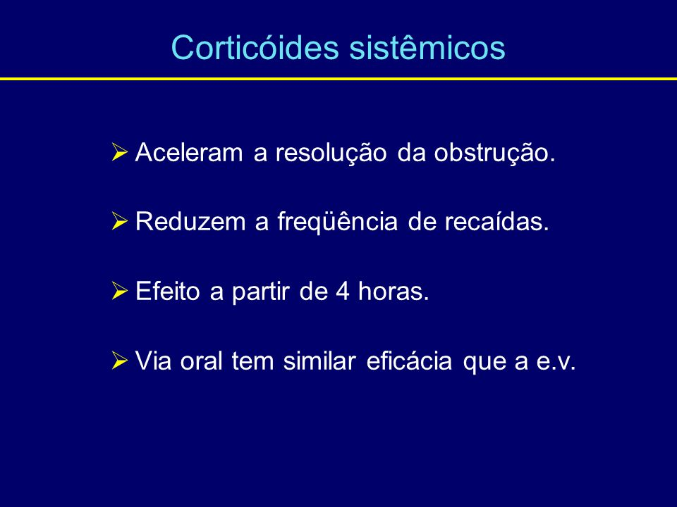 Corticóides sistêmicos
