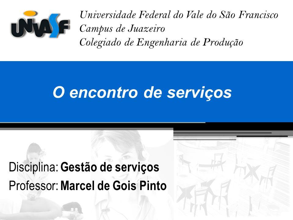 O encontro de serviços Disciplina: Gestão de serviços
