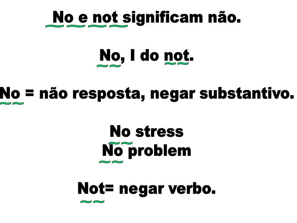 No = não resposta, negar substantivo.