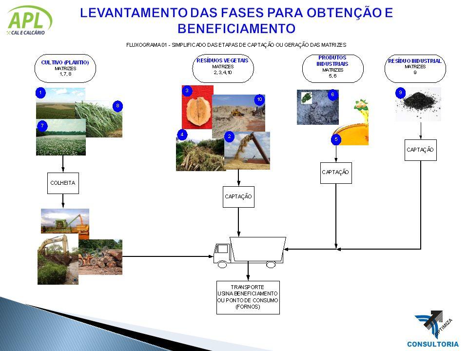 LEVANTAMENTO DAS FASES PARA OBTENÇÃO E BENEFICIAMENTO
