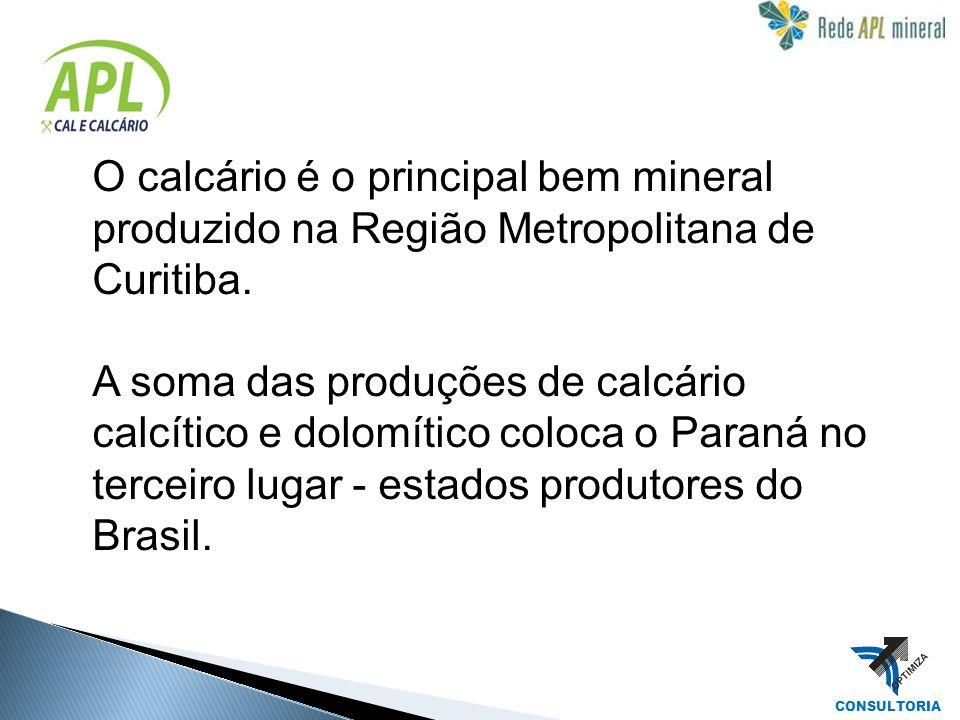 O calcário é o principal bem mineral produzido na Região Metropolitana de