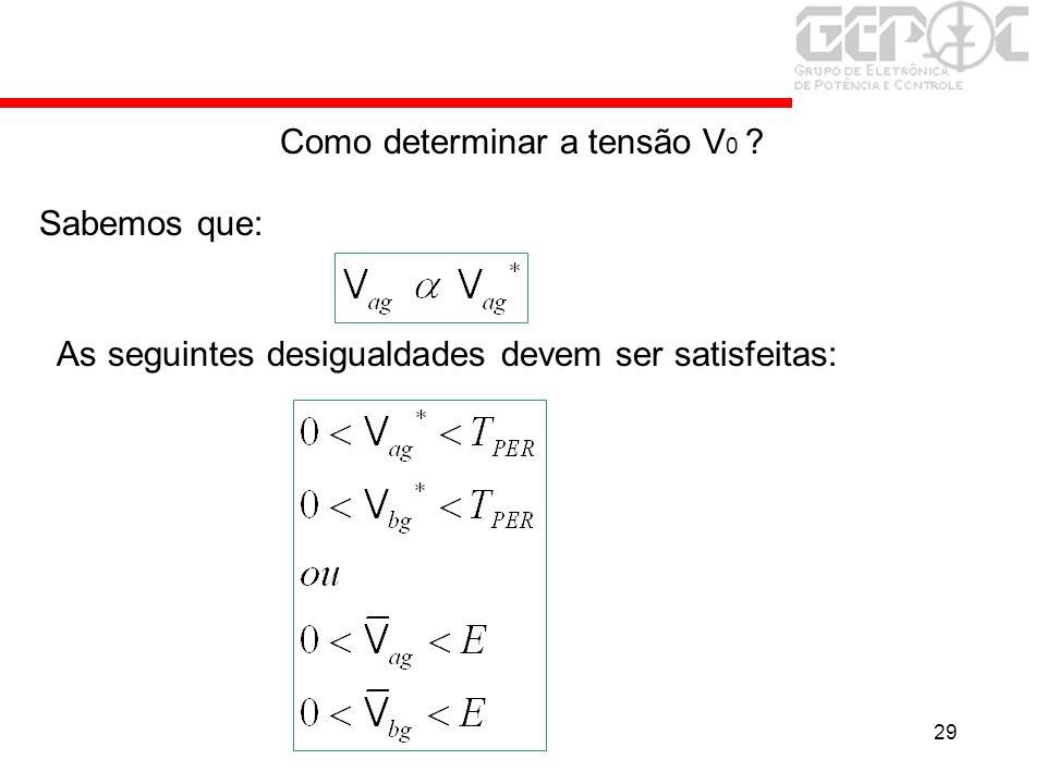 Como determinar a tensão V0