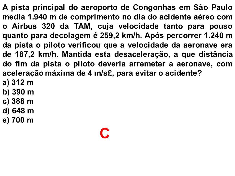 A pista principal do aeroporto de Congonhas em São Paulo media 1
