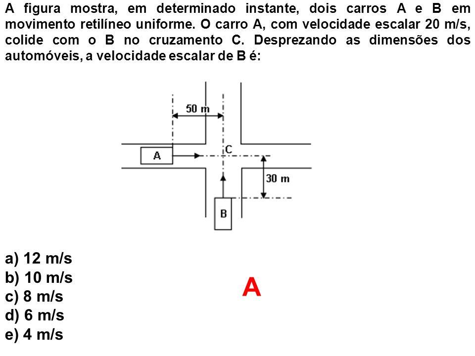 A a) 12 m/s b) 10 m/s c) 8 m/s d) 6 m/s e) 4 m/s