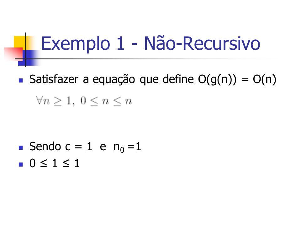 Exemplo 1 - Não-Recursivo