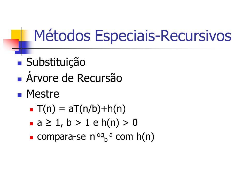 Métodos Especiais-Recursivos
