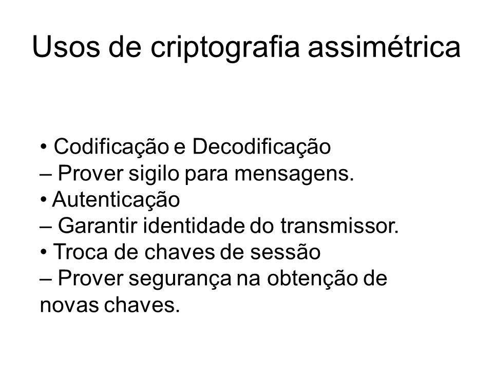 Usos de criptografia assimétrica