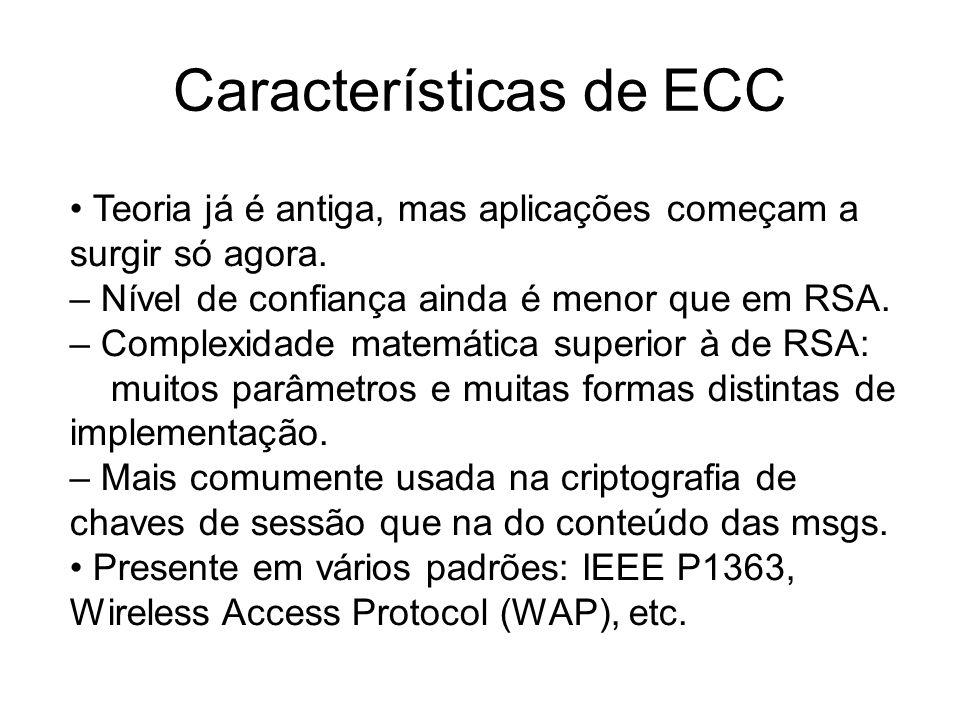 Características de ECC