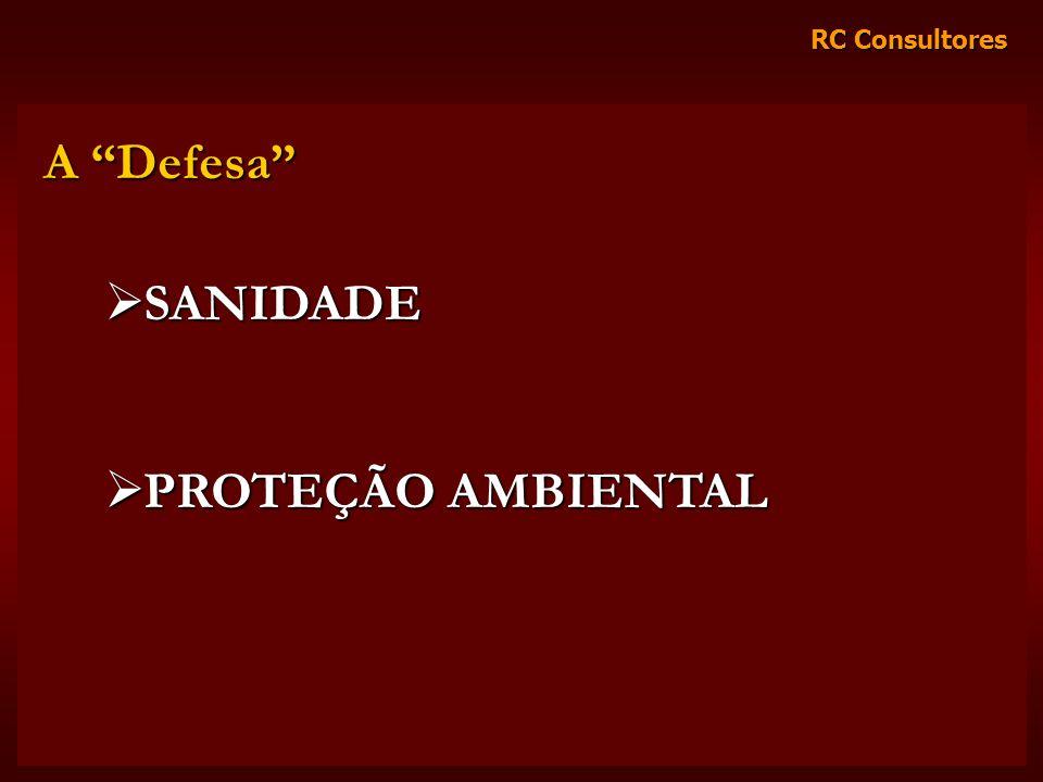 A Defesa SANIDADE PROTEÇÃO AMBIENTAL