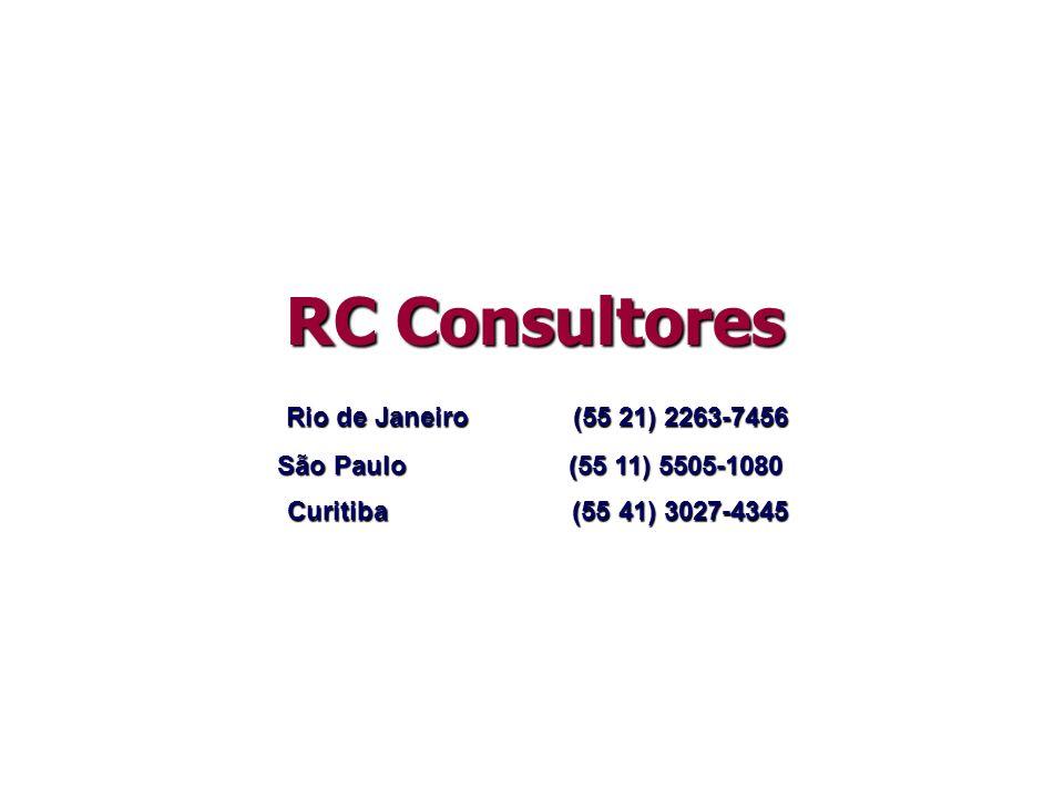 RC Consultores Rio de Janeiro (55 21) 2263-7456