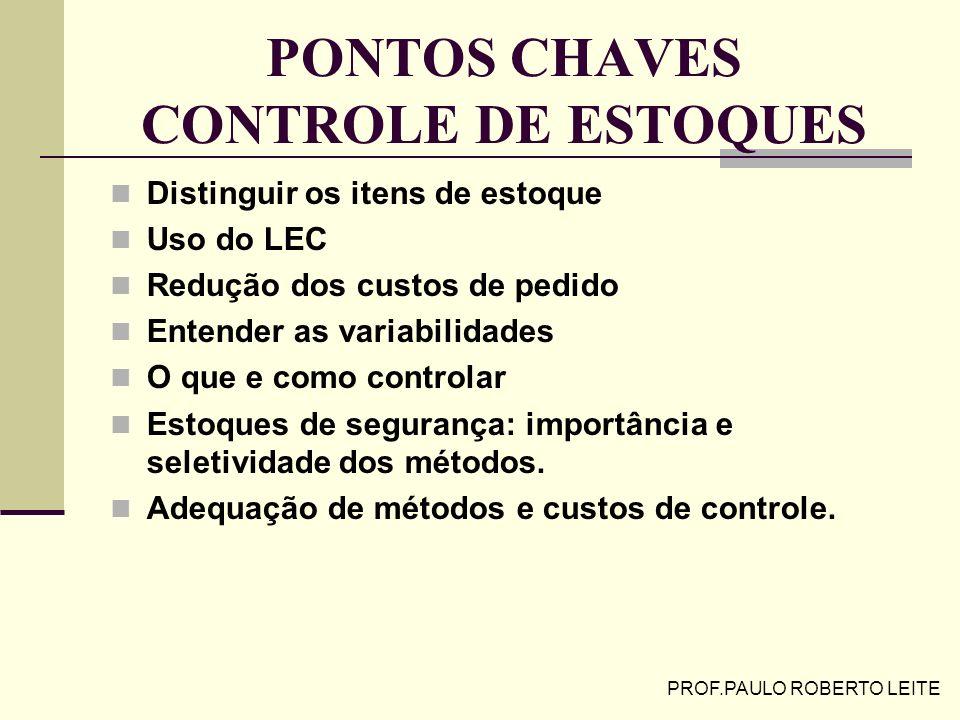 PONTOS CHAVES CONTROLE DE ESTOQUES