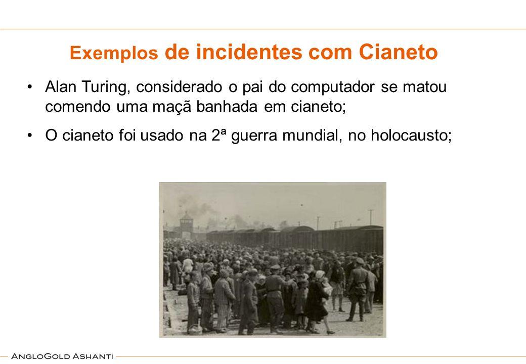 Exemplos de incidentes com Cianeto