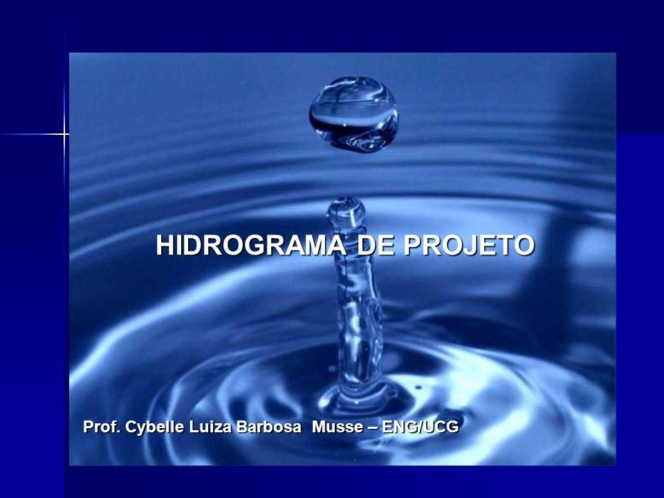 HIDROGRAMA DE PROJETO Prof. Cybelle Luiza Barbosa Musse – ENG/UCG