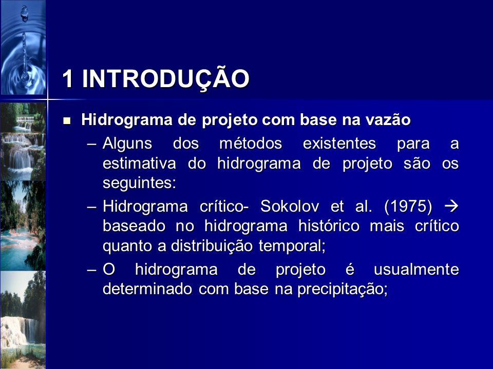 1 INTRODUÇÃO Hidrograma de projeto com base na vazão