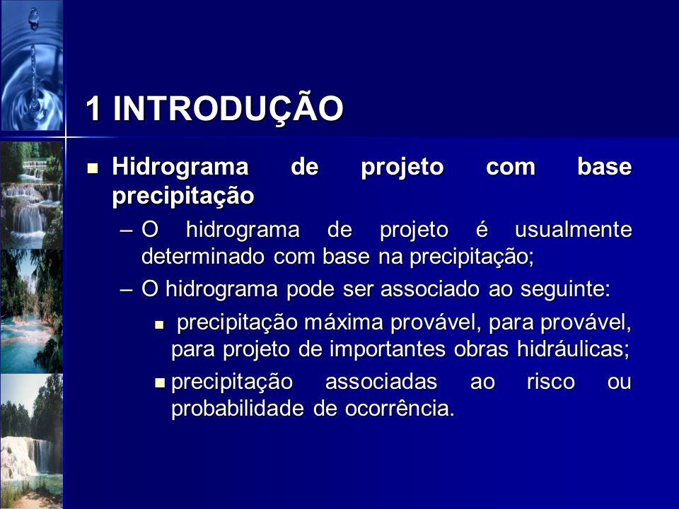1 INTRODUÇÃO Hidrograma de projeto com base precipitação