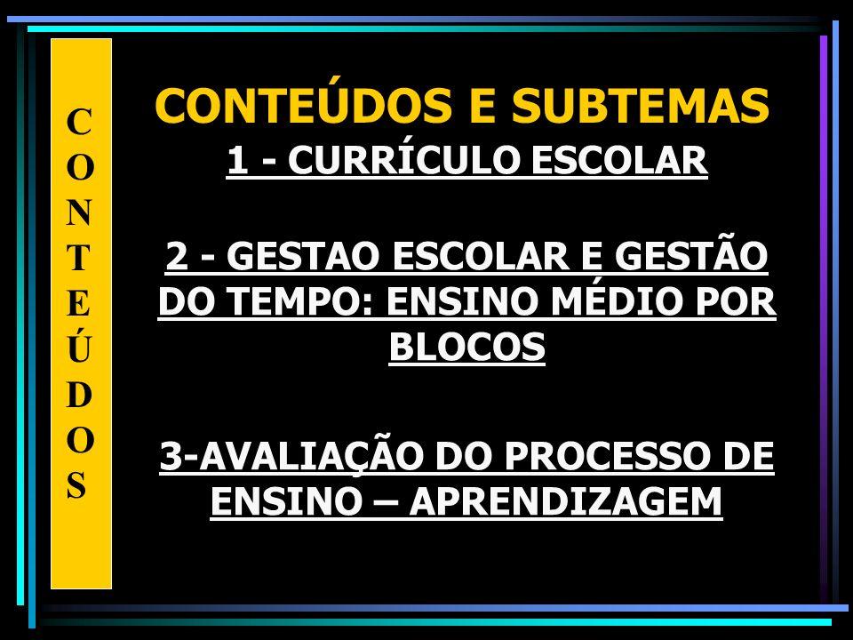 3-AVALIAÇÃO DO PROCESSO DE ENSINO – APRENDIZAGEM