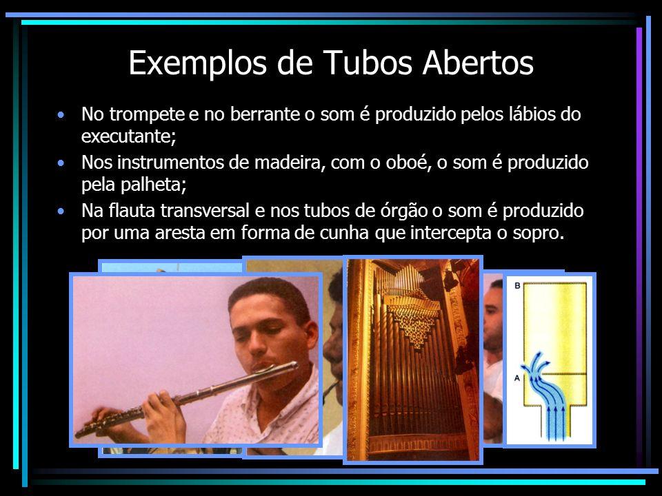 Exemplos de Tubos Abertos