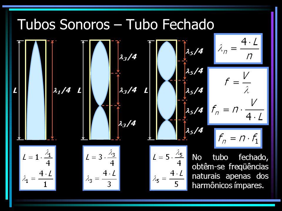 Tubos Sonoros – Tubo Fechado