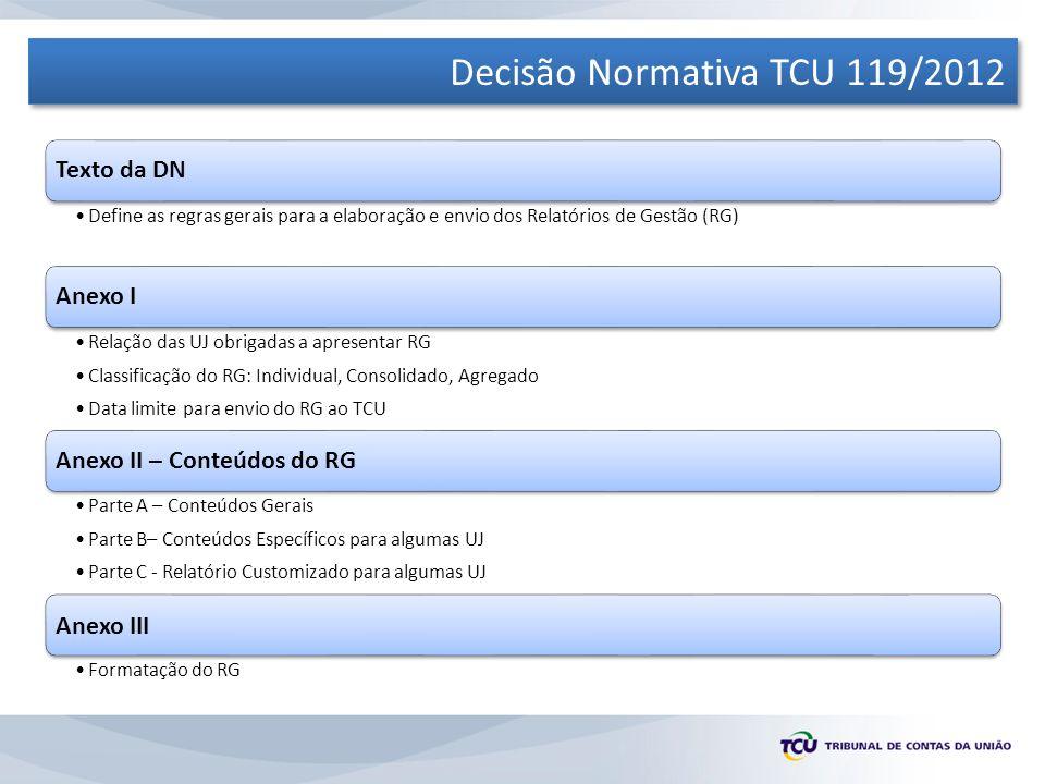 Decisão Normativa TCU 119/2012