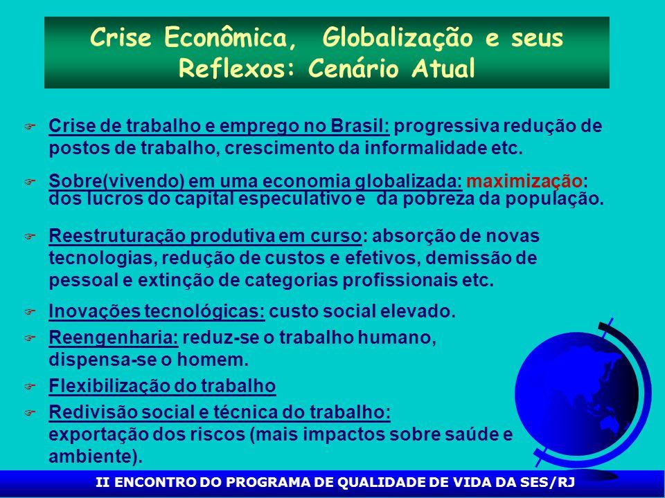 Crise Econômica, Globalização e seus Reflexos: Cenário Atual