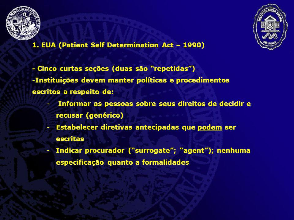 EUA (Patient Self Determination Act – 1990)